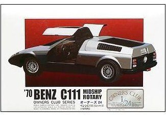 1/24 `70 Benz C111 Midship Rotary (Model Car) Micro Ace(Arii) Owners Club 24|No.21 (japan import)
