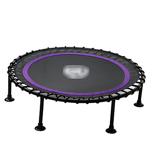 LKZL Recreational Trampolines, Gym Rebounder Home Cardio Fitness Durable Silent Bounce Mini Trampoline, Premium Bungees for Adults (Color : Purple)