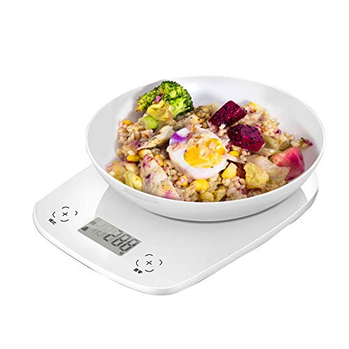 ZCY digitale keukenweegschaal precisie voedsel bakweegschaal Commercieel elektronische weegschaal wegen van levensmiddelen, LED-achtergrondverlichting, 3 eenheden, nul en tara eigenschappen ES1008