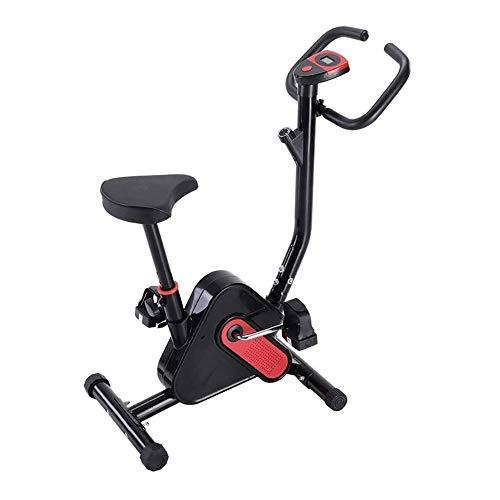 UIZSDIUZ Spinning Cubierta Fitness Bicicletas, Ultra silencioso de Bicicleta de Ejercicios Inicio de Bicicletas Equipo de la Aptitud, una Silla Ajustable y Pantalla LCD, Cardio Trainer for la Oficina