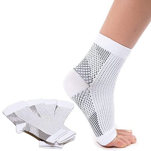2 paia di calzini per fascite plantare con supporto per l'arco plantare, calze a compressione, allevia il gonfiore e la spina calcaneare, supporto per caviglia, allevia il dolore velocemente