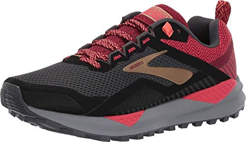 Brooks Women's Cascadia 14, Grey/Red, 9.5 B