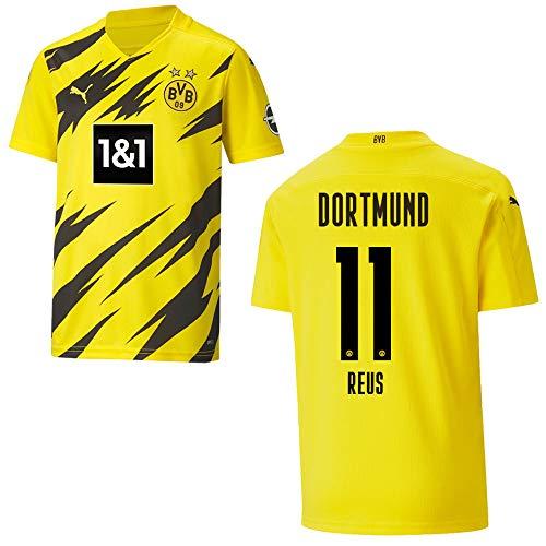 BVB Trikot Home Kinder 2021, Größe:128, Spielerflock (zzgl. 10.00EUR):11 Reus