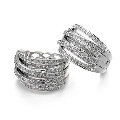 BAJIE Earring Fashion Luxury Elegant Cubic Zirconia Round Circle Female Earrings Fashion Jewelry