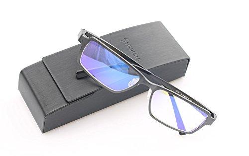 SOOLALA Mens Aluminum-magnesium Alloy Full Frame Best Reading Glasses Quality Readers, Gun, 1.25x
