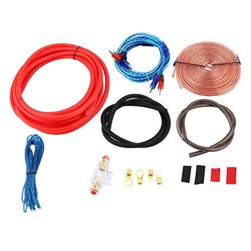 Professionele 2300W 4 Gauge Amp Kit Versterker 2.5 Farad Digitale Condensator Kleurrijk