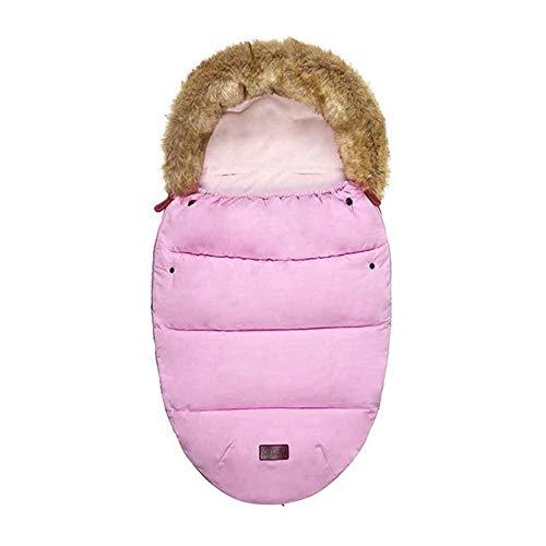 Universal-Fußsack für Kinderwagen, mit Fleece gefüttert, kuschelige Zehen, Fußsack, Wimpelkette, wasserdicht, für Kinderwagen, Buggy, Autositz, Pink