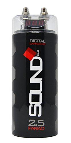 SoundBox SCAP2D, 2.5 Farad Digital Capacitor for Car Audio - 2500 Watts