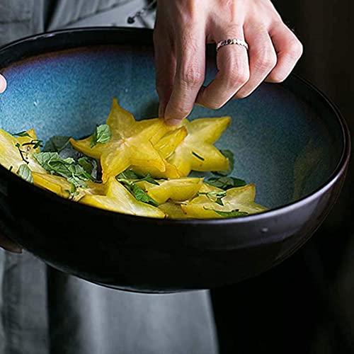 WXHHH Insalatiera per zuppiera in Ceramica Creativa da 9 Pollici, Ciotola per Verdure per Uso Domestico Grande Ciotola per Noodle  Ciotola di Uova e Ciotola di Pasta Piatto di Frutta