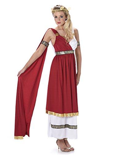 Karnival Costumes- Élégant Costume de Romaine pour Femme, Taille M, 81068, Multicolore, Medium UK 12-14 (European 40-42)