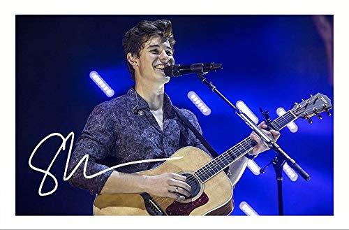 DS Shawn Mendes Autogramme Signiert 21cm x 29.7cm Foto Plakat
