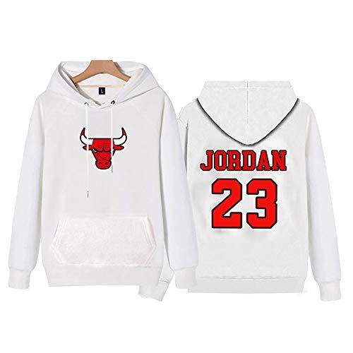 Bulls Jordan Chaqueta de Baloncesto Manga Larga Suelta, suéter con Capucha Delgada