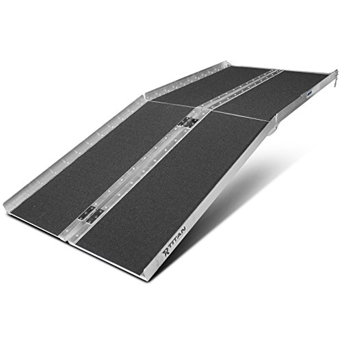 Titan Ramps 6' ft Aluminum Multifold Wheelchair Scooter Mobility Ramp Portable 72' (MF6)