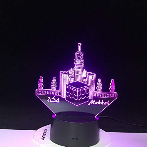 3D Led Night Light Lamp Mecca Mosque USB Home Decorative Kids Baby Nightlight Gift Table Lamp Bedroom