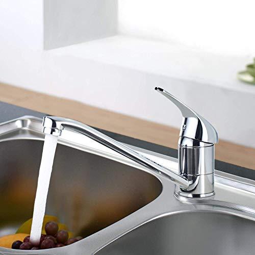 BONADE Küchenarmatur Mischbatterie 360° Schwenkbarer Wasserhahn Küchen Spültischarmatur Spülbeckenarmatur Einhebelmischer Einhand-Spültischbatterie aus Messing