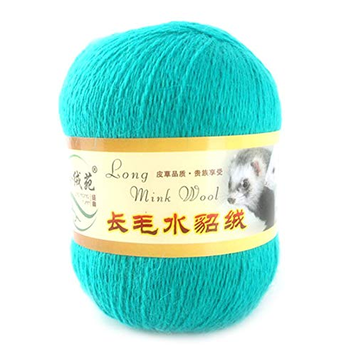 50g Soft Mink Wool Hand-Knitted Luxury Long-Wool Cashmere Yarn Assorted Colors Skeins for Knitting and Crochet Project
