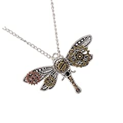 Novel Chic Personality Rock Fashion Gear And Dragonfly Shaped Pendant Design Suitable for Women Accessories Suitable for the Occasion:Party,Fashion Show,Photo,Prom