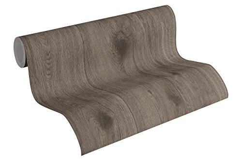 A.S. Création Vliesbehang Best of Wood`n Stone 2nd Edition behang in houtlook fotorealistisch houtbehang 10,05 m x 0,53 m bruin grijs Made in Germany 300432 30043-2