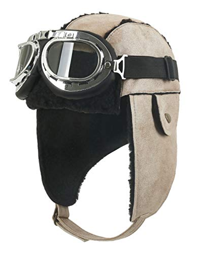 Aviator Hat with Pilot Goggles