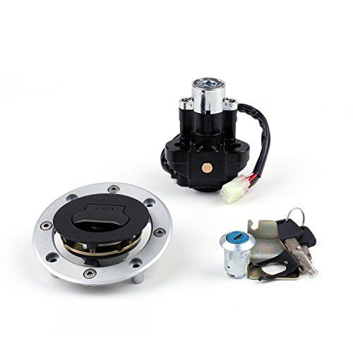 Artudatech Zündschloss Motorrad, Startschalter Zündung Zündschalter mit Tankdeckel Schlüssel Ignition Switch Lock für Suzu-ki SV650 SV 650 1999-2002