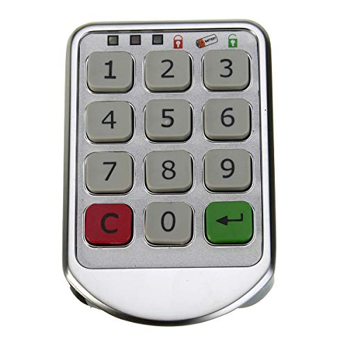 PassBeauty Metall-Zahlenschloss mit elektronischem Passwort, silberfarben