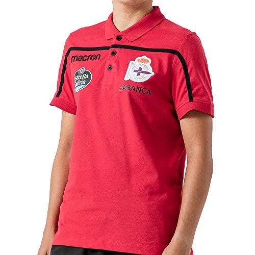 RC Deportivo Polo Oficial de Paseo Jugadores 2018/19 - Polo Unisex Adulto