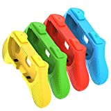 4 Pack Grip Kit for Nintendo Switch Joy-Con, Comfort Joy-con Grip Handle Controllers for Switch Joy Con -(Green&Pink&Yellow&Blue)
