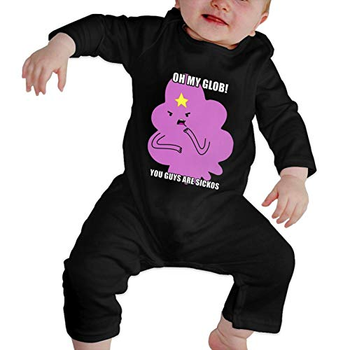 Lumpy Space Princess Oh My Glob Unisex Baby Cotton Coveralls Infant Romper Footies Long-Sleeve Onesies Bodysuit Active