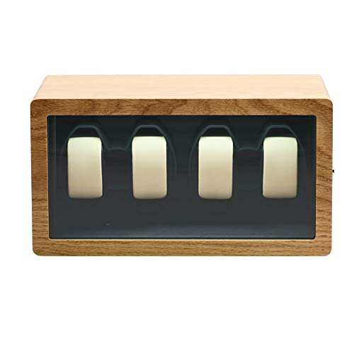 Enrollador de Reloj automático para 4 Relojes, Carcasa de Patente de Madera...