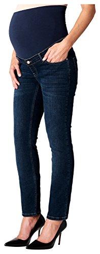 ESPRIT Maternity Damen Pants Denim OTB Straight Umstandsjeans, Blau (Darkwash 910), 40 (Herstellergröße: 40/32)