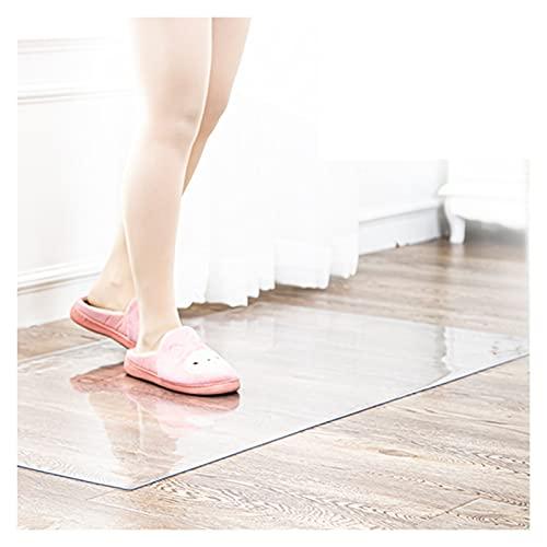 ASPZQ PVC Tischdeckenschutz rutschfest Hartbodenschutz für Den Haushalt Bürostuhl Mat Plastikteppich, Support-Anpassung (Color : 1.5mm, Size : 80x80cm)