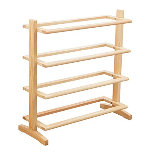 N/Z Home Equipment Shoe Rack Multi Layer Simple Household Shoe Storage Rack Assembly Modern Minimalist Dust Proof Solid Wood Storage Shoes Shelf