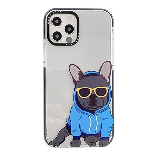 Bulldog Phone Case French Bulldog Phone Case for iPhone 6 7 8 11 12 Pro XS MAX XR X Mini Plus SE 2020 Soft Silicone Phone Cover 055
