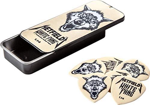 Dunlop Box of 6 James Hetfield White Fang - Púas para guitarra (1,14 mm)