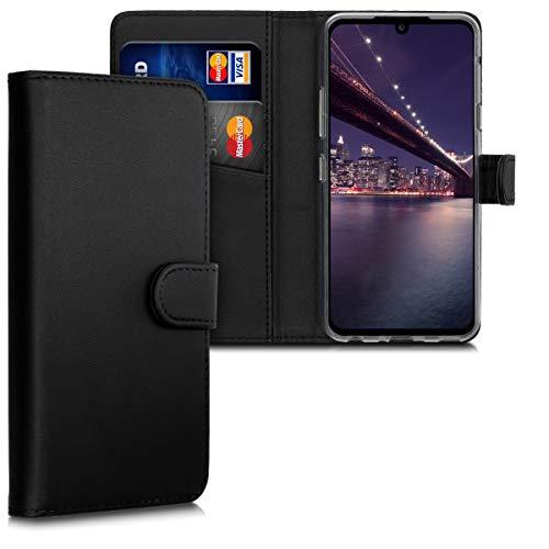 kwmobile Wallet Hülle kompatibel mit LG G8X ThinQ - Hülle Kunstleder mit Kartenfächern Stand in Schwarz
