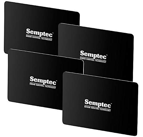 Semptec Urban Survival Technology RFID Schutzkarte: 4er-Set RFID- & NFC-Blocker-Karten im Scheckkarten-Format (NFC Schutz)