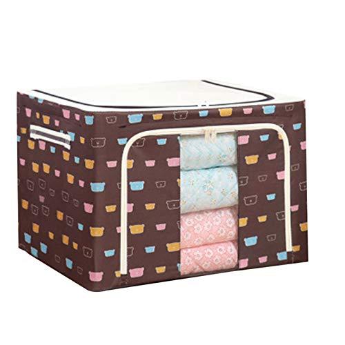 guoYL26sx Caja de almacenamiento de tela Oxford con marco de acero para ropa, sábanas, mantas, almohadas, zapatero organizador