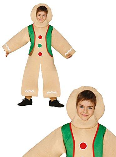 Disfraz de galleta de jengibre infantil 5-6 años