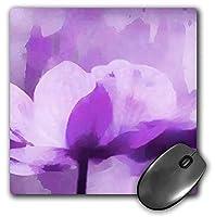 3dRose Mouse Pad Mixed Media Art Purple Anemone Flower Illustration, 8 x 8' (mp_263006_1) [並行輸入品]