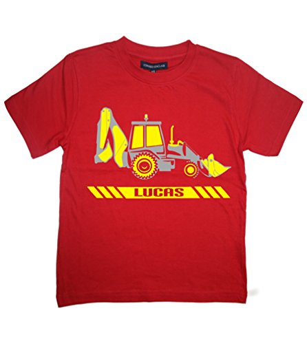 PERSONNALISE Ton Tee Shirt TRACTOPELLE' 2-3 Ans Rouge T-Shirt Enfant