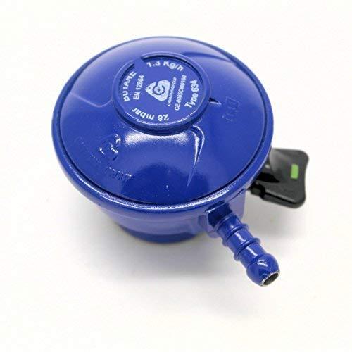 Cavagna Regulador de gas butano de 28 Mbar para cilindros de 21 mm.