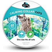 SOBAKEN Calming Collar for Cat - Reduce Anxiety or Aggression - Natural Pheromones Formula not Harmful for Kittens and Grown Cats - Waterproof - One Size Fits All - 15 inch