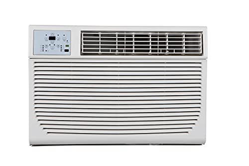 KEYSTONE 12,000/11,600 Capability 12,000 230V Window Wall Air Conditioner | 11,000 BTU Supplemental Heating | Sleep Mode | 24H Timer | Auto-Restart | AC for Rooms up to 550 Sq. Ft | KSTHW12A, White