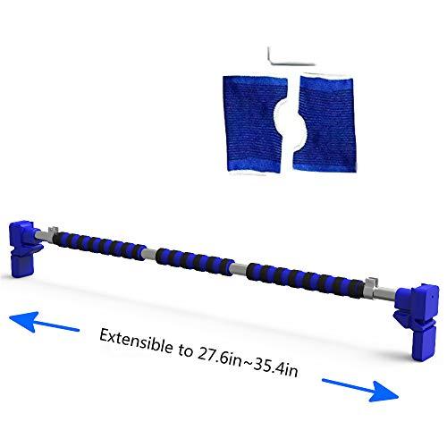 Barra de dominadas superior Jempet, barra de dominadas para puerta, barra de ejercicio de entrenamiento, ancho ajustable de 27.6 a 35.4 pulgadas, sin necesidad de perforar agujeros