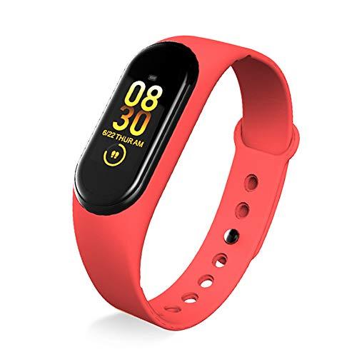 XIUNIA M4 Fitness Tracker Bluetooth pulsera inteligente con contador de pasos, contador de calorías, monitor de frecuencia cardíaca, para niños, mujeres y hombres