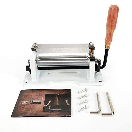 OUKANING Peladora Manual de Cuero, Pala de Astilla, máquina para Cortar Piel, peladora de Cuero