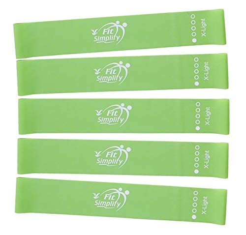 Fit Simplify Resistance Loop Bands Set of 5 (Extra Light)