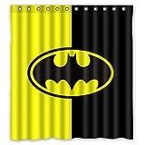 HYTCV Speziell gestalteter bunter wasserdichter Duschvorhang Digital gedruckte Badvorhänge sind wasserdicht, schimmelresistent & langlebig (180 * 180CM) für das Bad von Batman