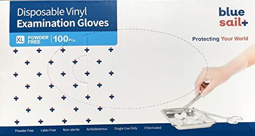 Einmalhandschuhe Vinyl Weiss puderfrei, Größe XL, 100-er Pack