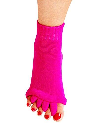 Yoga Sports GYM Five Toe Separator Socks Alignment Pain...
